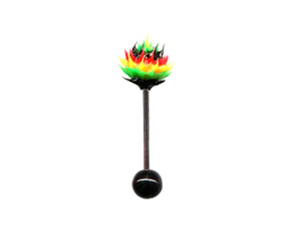 Piercing langue rasta