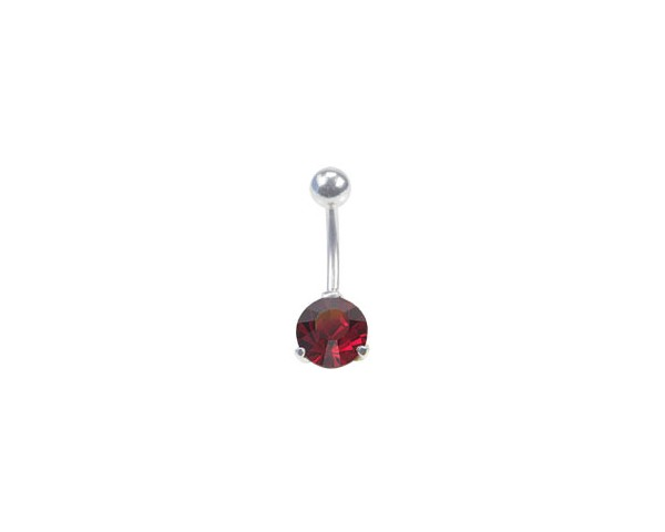 Piercing nombril stud rouge