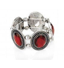 Bracelet antique cristaux rouge