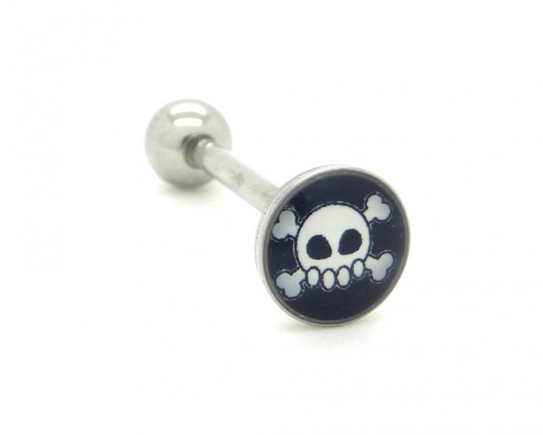 Piercing langue motif rock