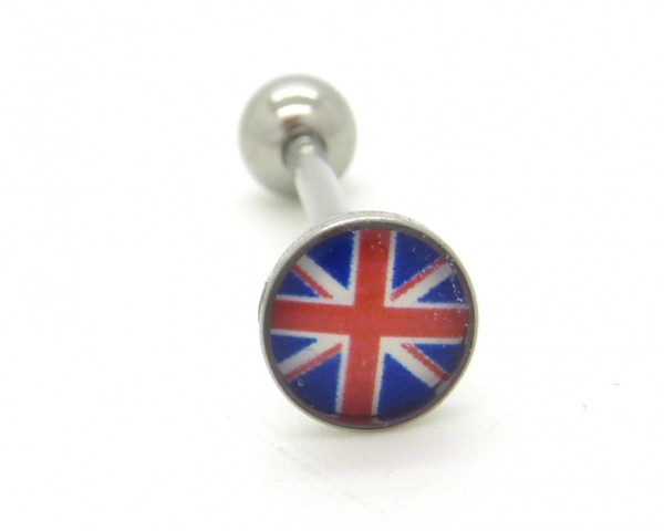 Piercing langue motif Union Jack