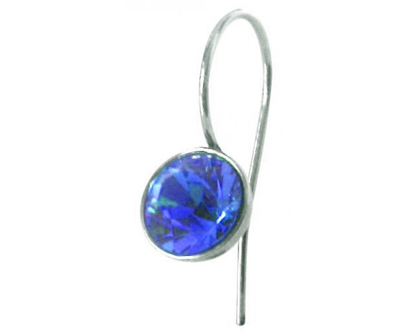Boucles strass deep blue