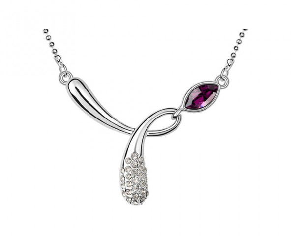 Collier tortillon amethyste