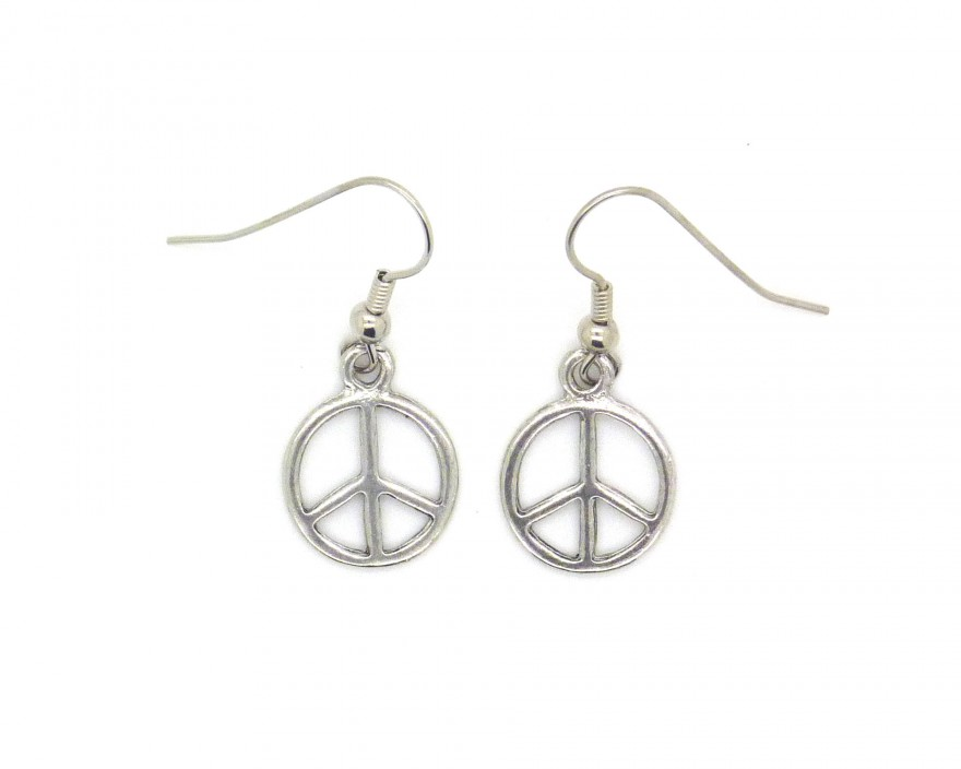 Envie bijoux - Boucle d oreille peace and love ...