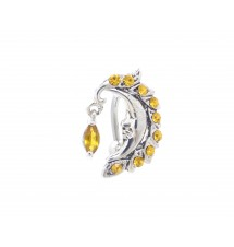 Piercing nombril lune jaune