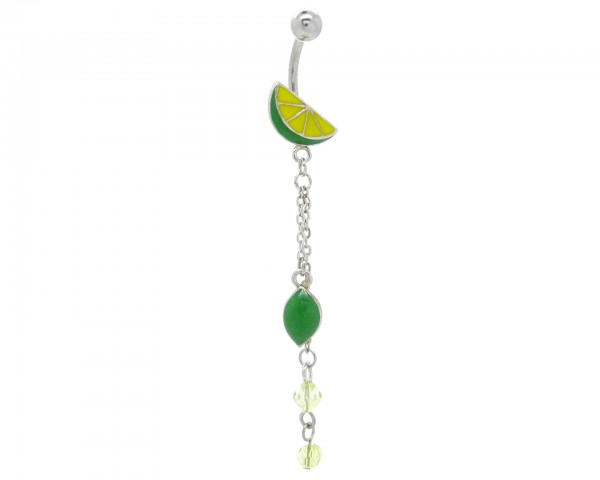 Piercing nombril pendentif fruit
