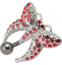 Piercing nombril butterfly