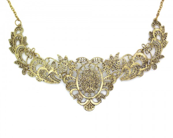 Collier filigrane vintage