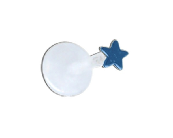 Piercing labret blue star