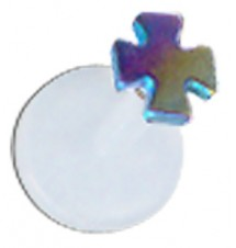 Rainbow Titanium Cross