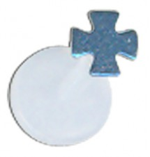 Blue Titanium Cross