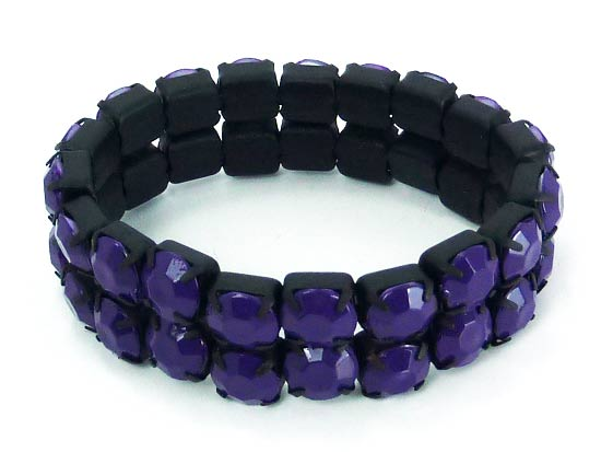 Bracelet enamel purple