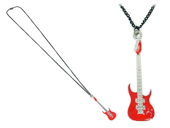 Sautoir guitare red