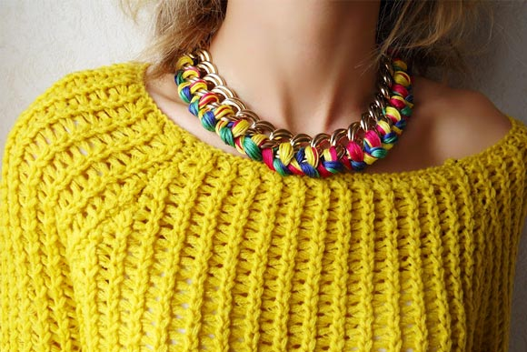 collier tresse tutoriel